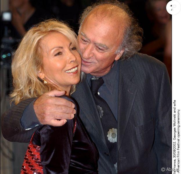 Georges Wolinski et son épouse Maryse lors du Festival du film américain de Deauville le 30 août 2002