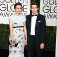 Keira Knightley enceinte, et son mari James Righton - 72e cérémonie annuelle des Golden Globe Awards à Beverly Hills, le 11 janvier 2015.