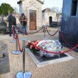 Cabu, de Charlie Hebdo, a été enterré au cimetière de Châlons-en-Champagne, le 14 janvier 2015.