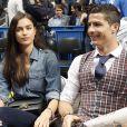 Cristiano Ronaldo et sa compagne Irina Shayk lors d'un match de basket à Madrid en Espagne le 20 mars 2014