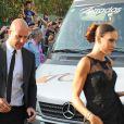 Pepe Reina et sa femme Yolanda Ruiz au mariage du footballeur Xavi Hernandez et Nuria Cunillera à Blanes, le 13 juillet 2013.