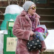 Miley Cyrus : Une veste en poils de Muppet's pour rencontrer son beau-père...