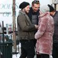 Exclusif - Arnold Schwarzenegger, sa compagne Heather Milligan, son fils Patrick Schwarzenegger et sa petite-amie Miley Cyrus lors d'un week-end en famille à Sun Valley, le 27 décembre 2014.