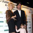 Carlos Moya et sa femme Carolina Cerezuela avec leur fille Carla en décembre 2013 à Palma de Majorque.