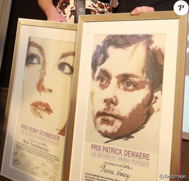 Adèle Exarchopoulos et Pierre Niney - 33e édition du prix Romy Schneider et Patrick Dewaere à l'hotel Scribe à Paris le 7 avril 2014