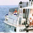 Lady Di le 22 août 1997 à Saint-Tropez, en vacances avec son amoureux Dodi Al-Fayed. Au cours des mois de juillet et août, le couple a séjourné à la Villa Sainte-Thérèse, propriété de Mohamed Al-Fayed, et sur le Jonikal, yacht du milliardaire.