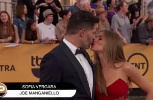 Sofia Vergara : Bisou et énorme bague au bras de son fiancé Joe Manganiello