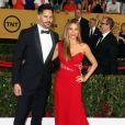 """Sofia Vergara et son fiancé Joe Manganiello - 21ème cérémonie annuelle des """"Screen Actors Guild Awards"""" à l'auditorium """"The Shrine"""" à Los Angeles, le 25 janvier 2015."""