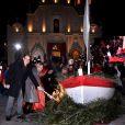 Le prince Albert II de Monaco et la princesse Charlene célébraient la Sainte Dévote, le 26 janvier 2015 sur le port Hercule. Ils ont embrasé ensemble la barque rappelant la légende de la martyre corse devenue sainte patronne de la principauté.