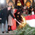 Le prince Albert II de Monaco et la princesse Charlene ont pris part aux traditionnelles célébrations de Sainte Dévote, le 26 janvier 2015 sur le port Hercule. Ils ont embrasé ensemble la barque rappelant la légende de la martyre corse devenue sainte patronne de la principauté.