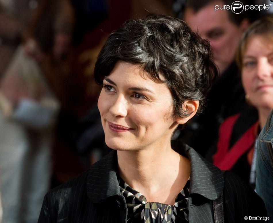 Audrey Tautou à Namur en Belgique, le 10 octobre 2014.