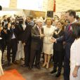 Le roi Felipe VI et la reine Letizia d'Espagne inauguraient le 27 janvier 2015 la 35e édition de la FITUR, le salon international du tourisme de Madrid.
