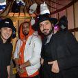 Les rappeurs Orelsan et Disiz et le comédien Redouanne Harjane assistent à la soirée de présentation de la collection Reebok Classics X Sandro au Carmen. Paris, le 29 janvier 2015.