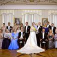 Photo de groupe au mariage religieux de la princesse Nathalie de Sayn-Wittgenstein-Berleburg et Alexander Johannsmann , à Bad Berleburg, le 18 juin 2011.