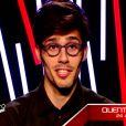 Quentin Bruno dans The Voice 4, sur TF1, le samedi 31 janvier 2015