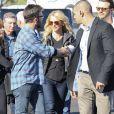 Britney Spears accompagné de son homme Charlie Ebersol lors de son arrivée au Phoenix Stadium de Glendale où s'est déroulé le Super Bowl entre les Seahawks de Seattle et les New England Patriots le 1er février 2015