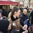 Charlotte Le Bon - Arrivées extérieures au déjeuner des nommés aux César 2015 au Fouquet's à paris le 7 février 2015