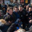 Eric Elmosnino - Arrivées extérieures au déjeuner des nommés aux César 2015 au Fouquet's à paris le 7 février 2015