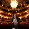 """Cécile de Ménibus et Michel Guidoni - Filage de la pièce """"Le bouffon du Président"""" au théâtre des Variétés à Paris le 10 février 2015."""