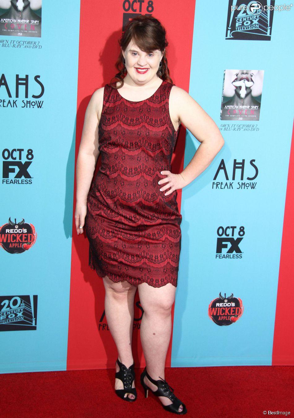 """Jamie Brewer - Soirée de présentation de la 4e saison de la série """"American Horror Story: Freak Show"""" à Hollywood, le 5 octobre 2014."""