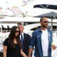 Tony Parker et sa belle Axelle à Saint-Tropez, le 1er juillet 2014