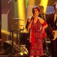 Rachid Taha et Catherine Ringer aux 30e Victoires de la musique, au Zénith de Paris, le 13 février 2015.