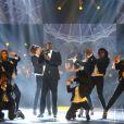 Black M (ou Black Mesrimes, de son vrai nom Alpha Diallo) - Soirée des 30ème Victoires de la Musique au Zénith de Paris, le 13 février 2015.13/02/2015 - Paris
