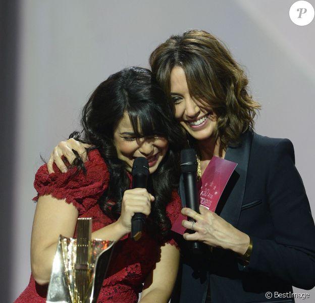 Indila et Virginie Guilhaume - Soirée des 30ème Victoires de la Musique au Zénith de Paris, le 13 février 2015.13/02/2015 - Paris