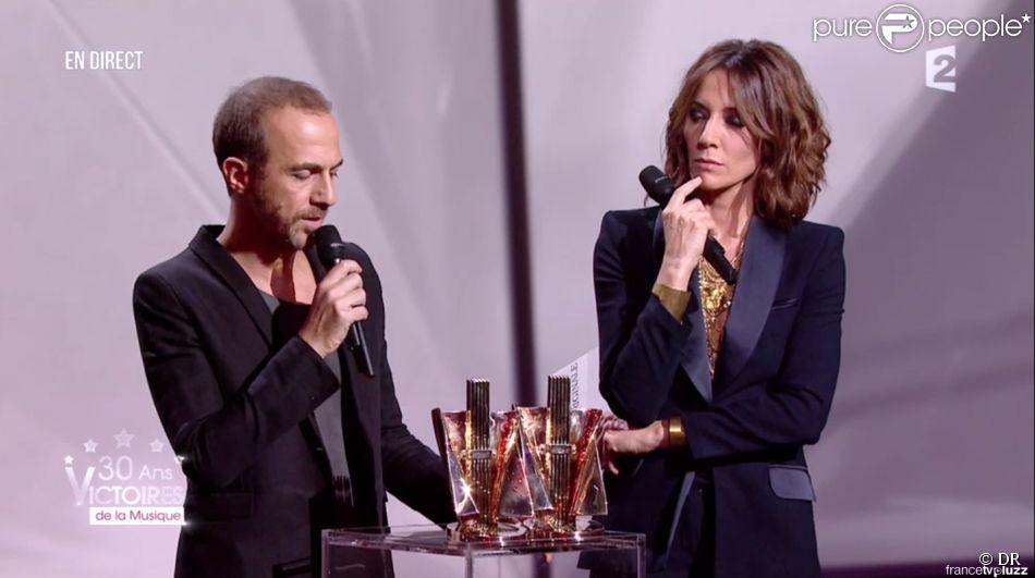 Calogero aux 30e Victoires de la musique, au Zénith de Paris, le 13 février 2015.