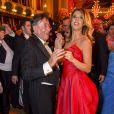 Richard Lugner, Elisabetta Canalis lors du Bal de l'Opéra de Vienne, le 12 février 2015à Vienne