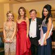 Cathy Spatzi Lugner (Schmitd), Elisabetta Canalis, Richard Lugner, Vanessa lors du Bal de l'Opéra de Vienne, le 12 février 2015à Vienne