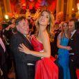 Elisabetta Canalis était l'invitée spéciale de Richard Lugner au Bal de l'Opéra de Vienne le 12 février 2015