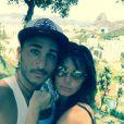 Vivian et Nathalie plus amoureux que jamais à Rio où se déroule le tournage des  Anges 7 . Janvier 2015.