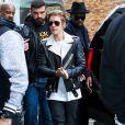 Justin Bieber arrive au studio Skylight Clarkson Square pour assister à la présentation de la collection YEEZY SEASON 1 (adidas Originals x Kanye West). New York, le 12 février 2015.