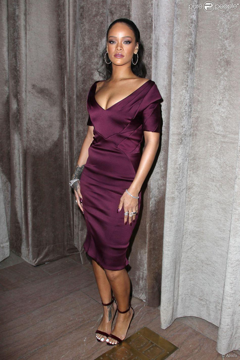 Rihanna lors du défilé Zac Posen automne-hiver 2015-2016 à la Grand Central Station. New York, le 16 février 2015.