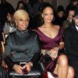 Mary J. Blige et Rihanna arrivent à la Grand Central Station pour assister au défilé Zac Posen automne-hiver 2015-2016. New York, le 16 février 2015.
