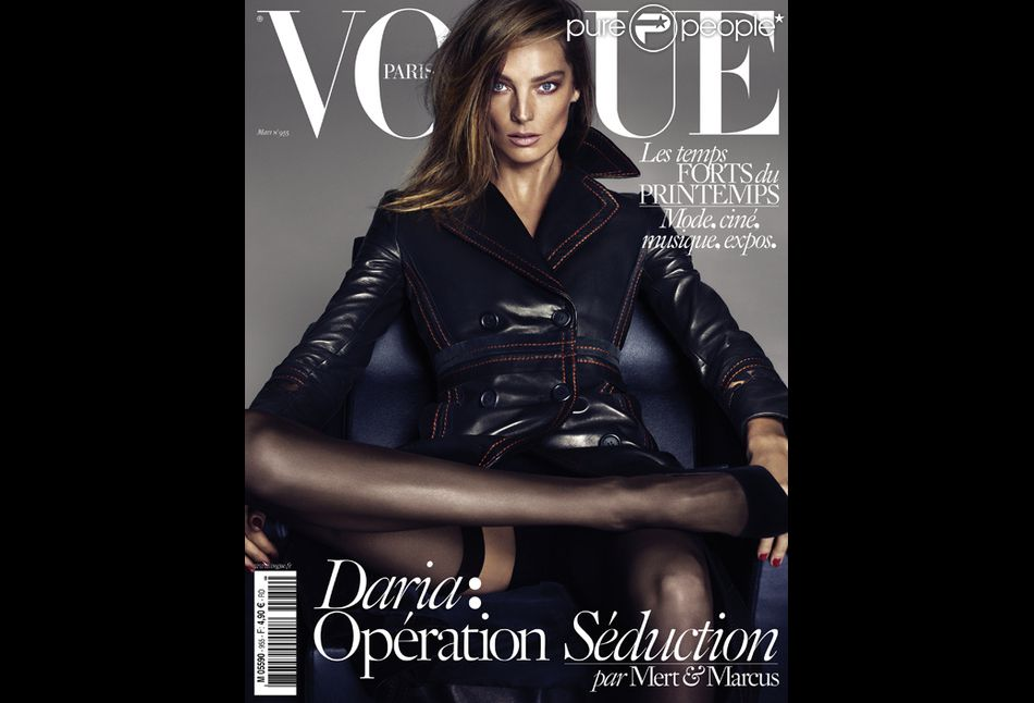 Daria Werbowy en couverture du magazine Vogue Paris pour ...
