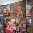 Exclusif - Rendez-vous avec Mylène Demongeot au musée cinéphile de Philippe Mouren, en hommage à Mylène Demongeot et à d'autres légendes du cinéma, à Toulon, le 10 juillet 2014. Le musée fait 300m2 sur deux appartements. C'est en fait un ciné club, dont Boris Cyrulnik fait parti, où se retrouvent des passionnés pour assister à des projections. Philippe Mouren a passé plus de 60 ans de sa vie à recueillir des photos et affiches de films, dont environ 80% sont consacrés à Mylène Demongeot.