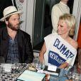 Rick Salomon et Pamela Anderson assiste à la Soirée Vanity Fair Armani à l'Eden Roc au cap d'Antibes le 17 mai 2014