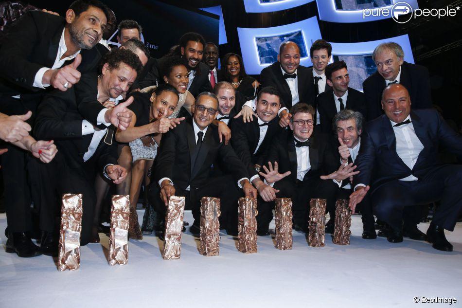Abderrahmane Sissako ( 7 César dont Meilleur film et Meilleur réalisateur pour Timbuktu) - 40ème cérémonie des César au théâtre du Châtelet à Paris, le 20 février 2015.