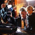 Sean Penn et Charlize Theron arrivent à la 40e cérémonie des César au théâtre du Châtelet à Paris, le 20 février 2015