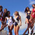 Les divines Miss France Camille Cerf, Malika Ménard, Flora Coquerel, Laury Thilleman et Delphine Wespiser, sublimes, lors de leur croisière entre la Martinique, la Guadeloupe et le Venezuela
