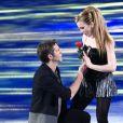 Le prince Emmanuel-Philibert de Savoie à la télé italienne dans  Dancing On Ice , le 21 février 2015 à Rome.