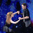 Emmanuel-Philibert de Savoie à la télé italienne dans  Dancing On Ice , le 21 février 2015.