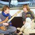 Pierre Bachelet avec sa seconde épouse, Danièle, le 28 février 1986.
