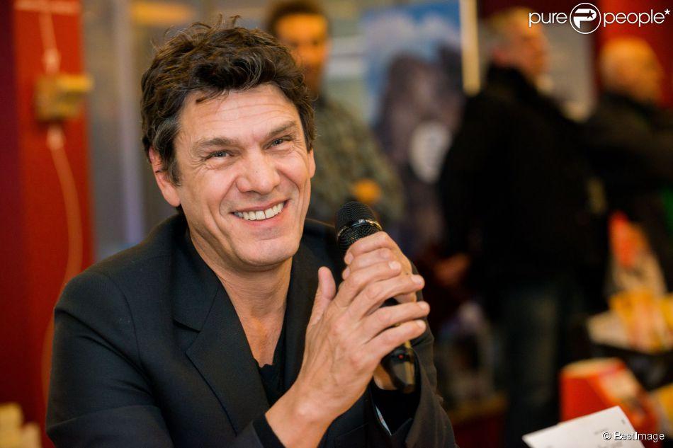 """Exclusif - Marc Lavoine en promotion pour son livre """"L'homme qui ment"""" à Bruxelles en Belgique le 3 février 2015."""