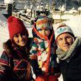 Lionel Messi et sa belle Antonella avec leur fils Thiago à Andorre le 2 février 2015.