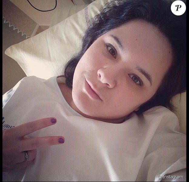 Magalie Vaé, hospitalisée, le 1er mars 2015