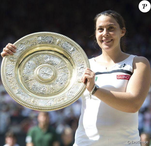 Marion Bartoli remporte Wimbledon à Londres le 6 juillet 2013.