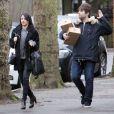 Liam Gallagher et Debbie Gwyther dans les rues du Londres, le 27 janvier 2015.